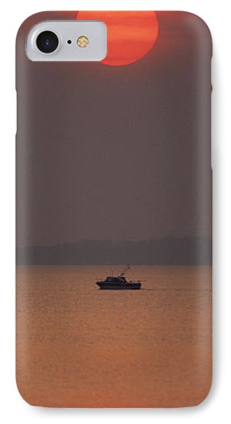 A Power Boat On Its Way To The Fishing Grounds Phone Case by John Harmon