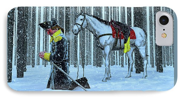 A Prayer In The Snow IPhone Case by Dave Luebbert