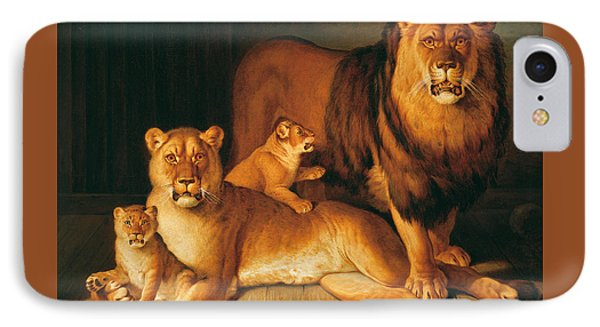 A Pride Of Lions IPhone Case by Jean-Baptiste Huet