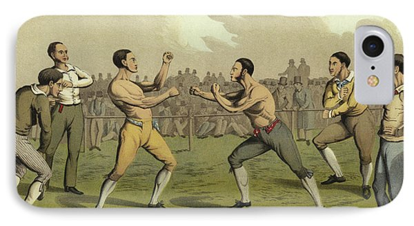 A Prize Fight IPhone Case by Henry Thomas Alken