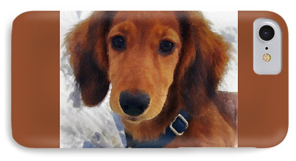 A Puppy Called Redford IPhone Case by Claudia O'Brien