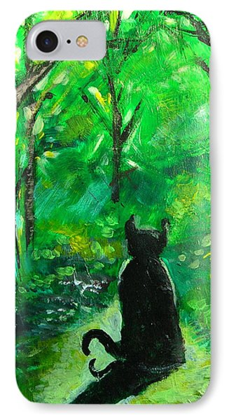 A Purrfect Day IPhone Case by Seth Weaver
