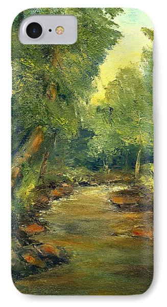 IPhone Case featuring the painting A Quiet Place by Gail Kirtz