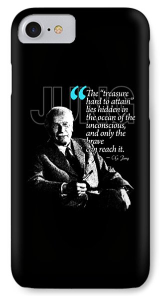 A Quote From Carl Gustav Jung Quote #12 Of 50 Available IPhone Case