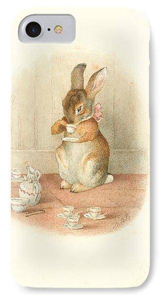A Rabbit's Tea Party IPhone Case by Beatrix Potter