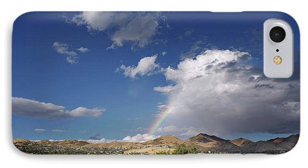 A Rainbow In Salt Lake City IPhone Case by Rona Black