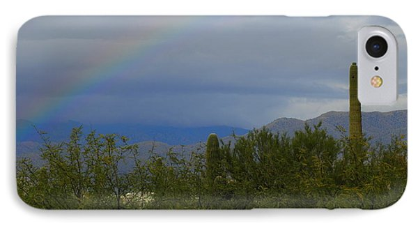A Rainbow In The Desert IPhone Case by Teresa Stallings