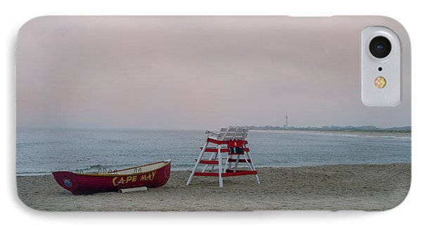 A Rainy Day At Cape May Cove IPhone Case by Bill Cannon