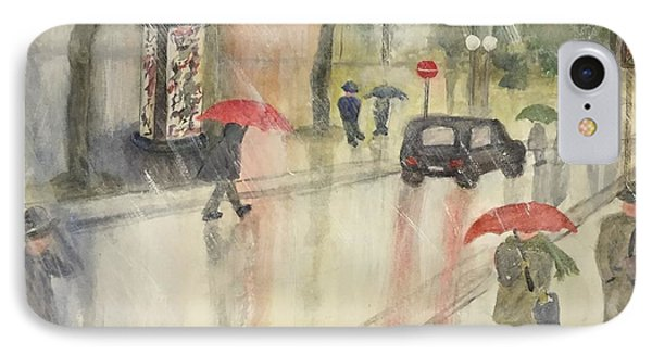 A Rainy Streetscene  IPhone Case