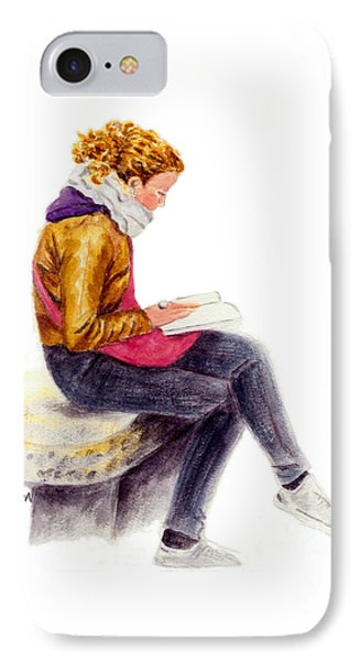 A Reading Girl In Milan IPhone Case