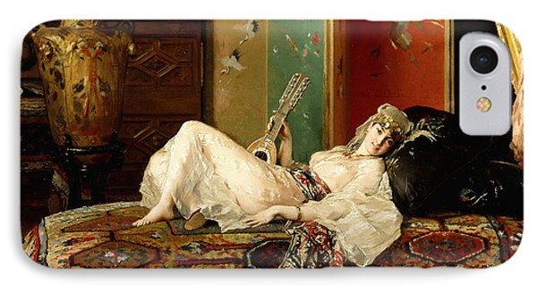 A Reclining Odalisque IPhone Case by Gustave Leonard de Jonghe