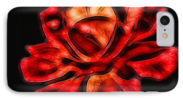 A Red Rose For You 2 Phone Case by Mariola Bitner