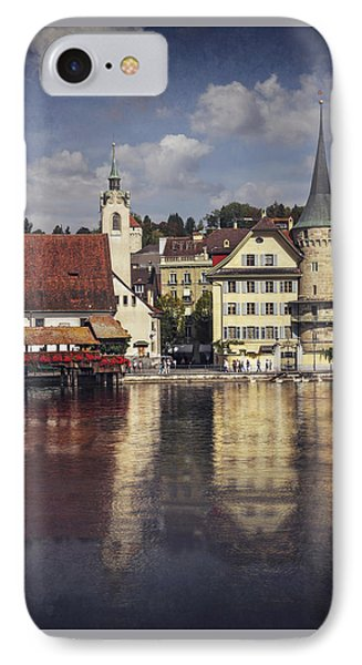 A Reflection Of Lucerne IPhone Case by Carol Japp