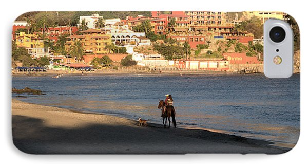 IPhone Case featuring the photograph A Ride On The Beach by Jim Walls PhotoArtist