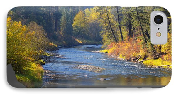 A River Runs Thru Autumn IPhone Case