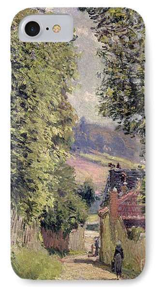 A road in louveciennes painting by alfred sisley for Road case paint