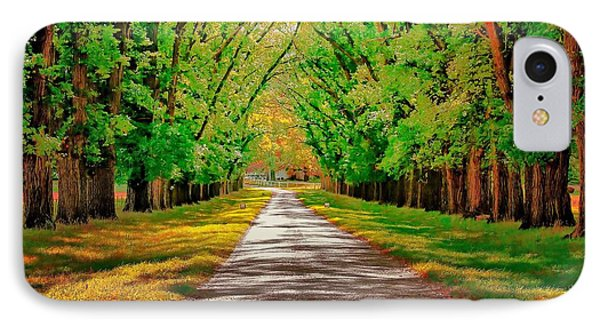 A Road Through Autumn IPhone Case