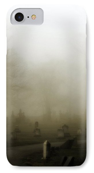 A Road Through The Fog Soaked Graveyard IPhone Case by Gothicrow Images