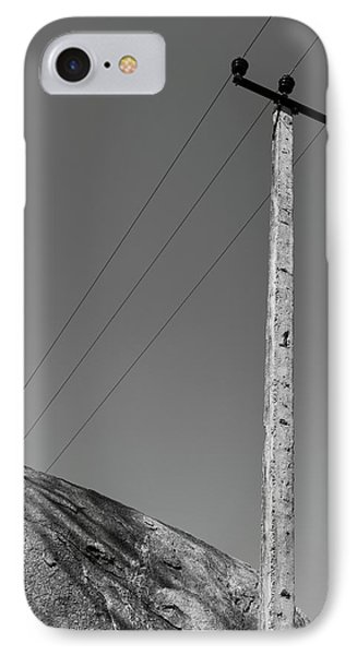 IPhone 7 Case featuring the photograph A Rock And A Pole, Hampi, 2017 by Hitendra SINKAR