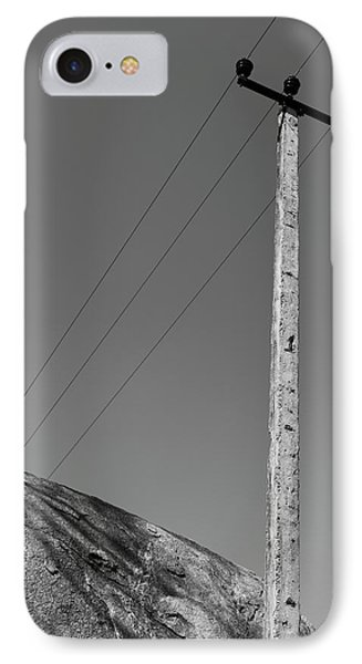 IPhone Case featuring the photograph A Rock And A Pole, Hampi, 2017 by Hitendra SINKAR