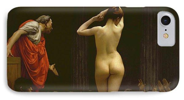 Jessica Alba iPhone 7 Case - A Roman Slave Market, Jean Leon Gerome by Jean Leon Gerome