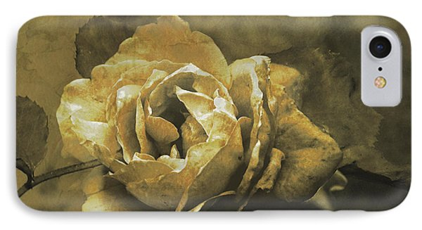 IPhone Case featuring the digital art Vintage Effect Rose by Fine Art By Andrew David