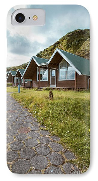 IPhone Case featuring the photograph A Row Of Cabins In Iceland by Edward Fielding