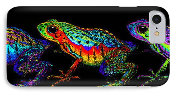 A Row Of Rainbow Frogs IPhone Case