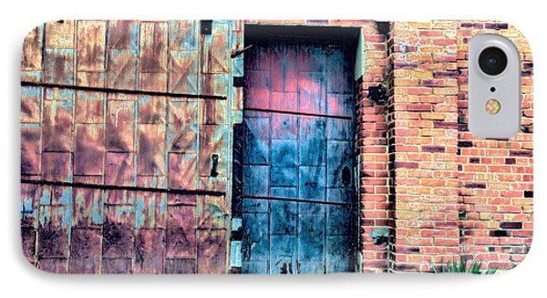A Rusty Loading Dock Door IPhone Case