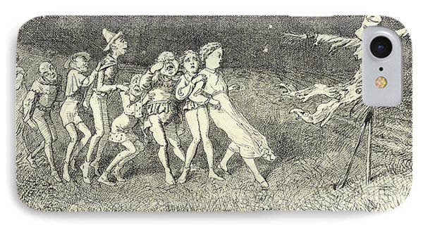 A Scarecrow IPhone Case by Charles Altamont Doyle