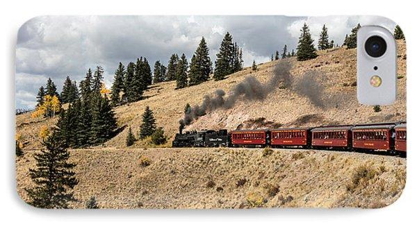 IPhone Case featuring the photograph A Scenic Railroad Steam Train, Near Antonito In Conejos County In Colorado by Carol M Highsmith