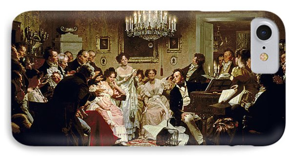 A Schubert Evening In A Vienna Salon IPhone Case by Julius Schmid