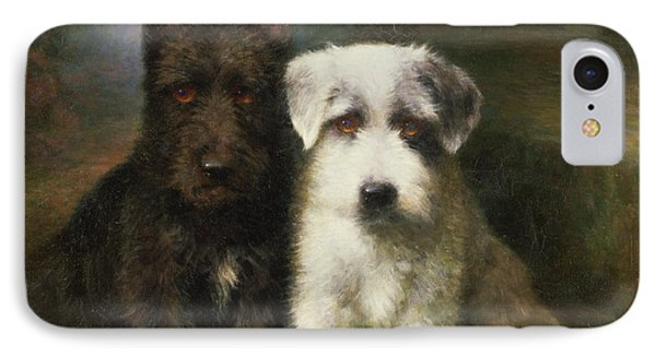 A Scottish And A Sealyham Terrier IPhone Case