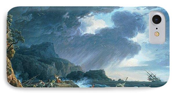 A Seastorm IPhone Case by Claude Joseph Vernet