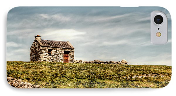 A Shack On The Aran Islands IPhone Case by Natasha Bishop