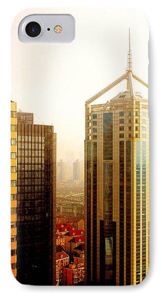 A Shanghai Sunset Phone Case by Christine Till