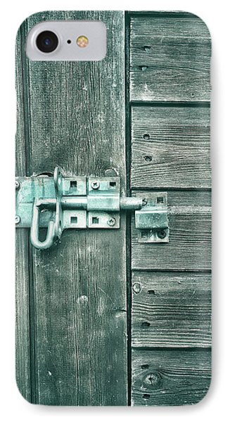 A Shed Door IPhone Case by Tom Gowanlock