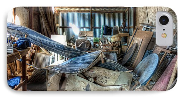 A Shed Full IPhone Case by Wayne Sherriff