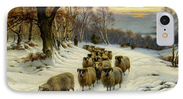 A Shepherd And His Flock  IPhone Case by MotionAge Designs