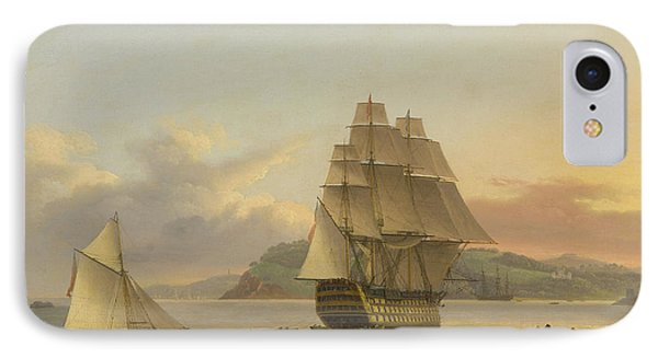 A Ship Of The Line Off Plymouth, 1817 IPhone Case