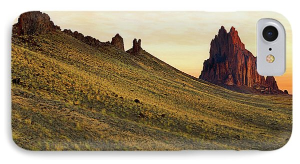 IPhone Case featuring the photograph A Shiprock Sunrise - New Mexico - Landscape by Jason Politte