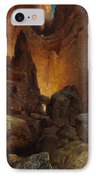 A Side Canyon, Grand Canyon Of Arizona IPhone Case by Thomas Moran
