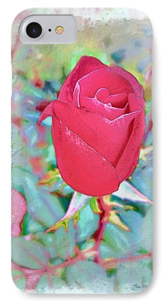 IPhone Case featuring the photograph A Single Rose In October by Joan  Minchak