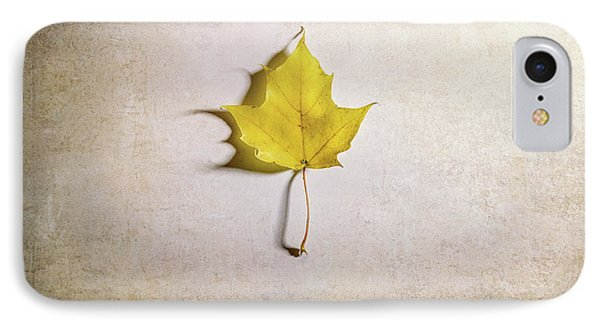 A Single Yellow Maple Leaf IPhone Case by Scott Norris