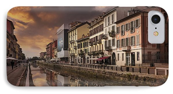 A Sleepy Sunday At Naviglio Grande IPhone Case by Carol Japp