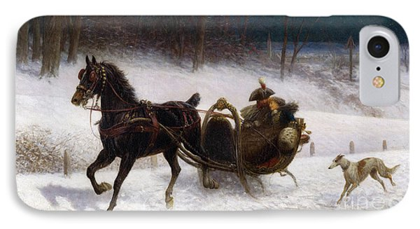 A Sleigh Ride IPhone Case by Celestial Images