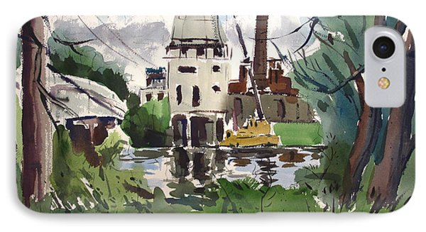 A Slow Demolition Of A Power Plant Plein Air Framed IPhone Case
