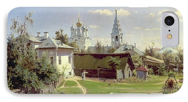 A Small Yard In Moscow IPhone Case by Vasilij Dmitrievich Polenov