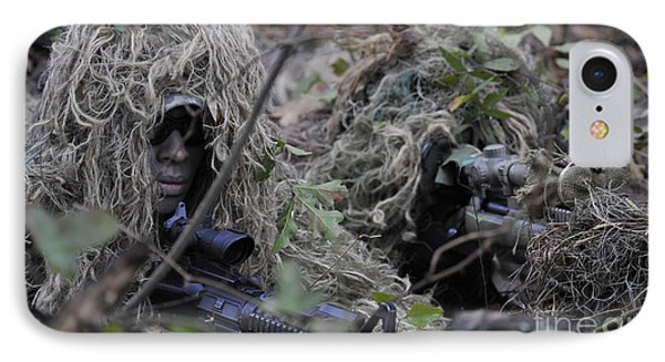 A Sniper Team Spotter And Shooter Phone Case by Stocktrek Images