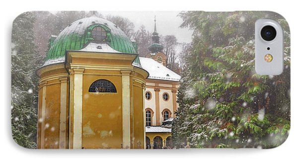 A Snowy Day In Salzburg Austria  IPhone Case by Carol Japp